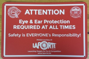Order Eye/Ear Safety Signs for Ranges